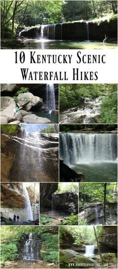 Planning a hike this spring to beautiful waterfalls? Check out these 10 Kentucky Scenic Waterfall Hikes - Hobbies on a Budget Kentucky Hiking, Kentucky Vacation, Kentucky Attractions, Louisville Kentucky, Vacation Places, Places To Travel, Travel Destinations, Places To Visit, Vacation Ideas