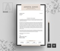 Welcome to the Adeeva Resume! We designed resume template to get you notice! Help you stand out from the crowd and leave a lasting impression when applying for your dream career. We created using elegance with a modern twist and easy to read. Cover Letter Template, Letter Templates, Resume Templates, Cv Simple, Modern Cv Template, Creative Cv, Microsoft Word 2007, Free Icon Packs, Dream Career
