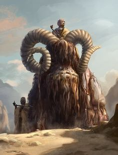 The Bantha - One of my favorite Star Wars Creatures paired with one of the most scariest characters of the series - The Tusken Raiders