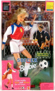 MIA HAMM Soccer BARBIE Goalie Uniform Women's World Cup USA 1999