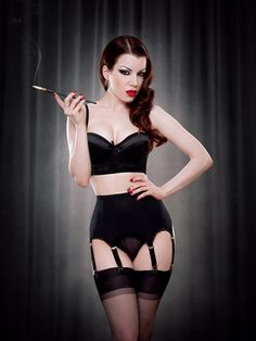 Gorgeous vintage-inspired lingerie from Kiss Me Deadly. I adore the whole femme fatale vibe happening in this image, and Kiss Me Deadly is one of the best lingerie brands in the world...full of strong, dynamic, powerful women.