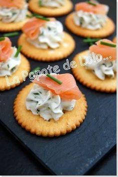 Biscuit chèvre & saumon