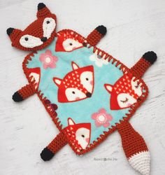 Repeat Crafter Me: Crochet Fox Lovey Blanket