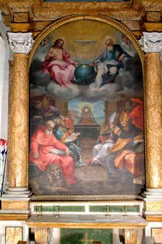 Ventura Salimbeni, óleo sobre tela, 1600, Chiesa di San Lorenzo in San Pietro, Montalcino.