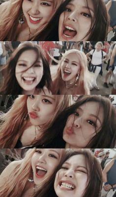 Blackpink, Rose e jennie Kpop Girl Groups, Korean Girl Groups, Kpop Girls, Blackpink Video, Foto E Video, K Pop, Divas, Blackpink Poster, Blackpink Funny