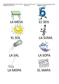 Cartilla de Lectura en Mayúsculas Preschool Learning, Teaching, Learning Spanish, Education, Sayings, Alphabet, Reading Lessons, Preschool Reading Activities, Word Reading