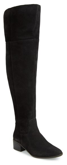 To cuff or not to cuff will be the only style question with these lavish suede beauties | Steve Madden over-the-knee boots.
