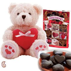 Send Soft Teddy & Chocolates to your loved ones in India on Valentine's Day