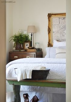 adding grass green accents..(basically the same tone as a house plant) via lettered cottage