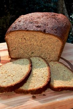 Delicious Low Carb Bread Recipe only 1/2 net carb per 1 inch thick slice! :) :)