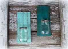 Distressed Light or Deep Turquoise Mason Ball Jar  by CountryAkers, $18.00