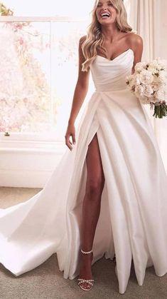 Diy Wedding Dress, Rustic Wedding Dresses, Sweetheart Wedding Dress, Modest Wedding Dresses, Bridal Dresses, Wedding Ideas, Wedding Dress Styles, One Shoulder Wedding Dress, Prom Dresses