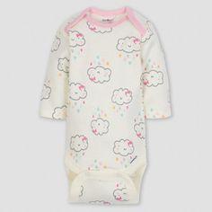 Gerber Baby Girls  5pk Long Sleeve Onesies Bodysuit Clouds -  Green Pink Gray 0 3M 6501b91f7