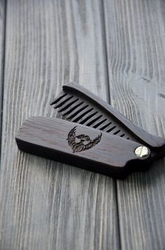 New Wooden Beard Hair Folding Comb Wenge Wood by EnjoyTheWood Like & Repin. Noelito Flow. Noel http://www.instagram.com/noelitoflow