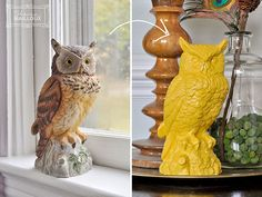 Modernize figurines and statues by painting them completely in any color! shop The Arc Store for a HUGE variety of knick-knacks perfect for this DIY project. arcstore.org