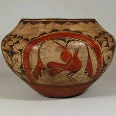 "#adobegallery - Zia Pueblo High-shoulder Storage Jar. Category: Historic Origin: Zia Pueblo Medium: clay, pigment Size: 10-1/4"" height x 15-1/8"" diameter Item # C3753.01"