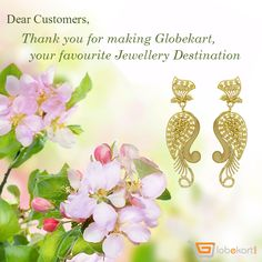 There is no time more fitting than today to say thanks to all our customers.  You all trust us & choose us as your one stop jewellery destination. Courtesy Globekart!  For those who want to explore exquisite, certified jewelleries pay visit to   ➜ http://bit.ly/1oiMSWy  .   #Thanksgiving #ThanksCustomers #Globekart #Gold #DiamondJewellery #BeJewelled
