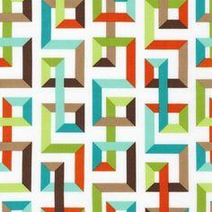 Fabric Store - Fancy Flight - Maze Stripe - ML243555 - Garden White also here: http://www.robertkaufman.com/fabrics/fancy_flight/ANM-13727-238/