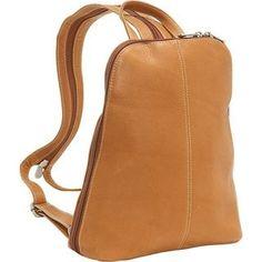 533169c18576e LeDonne Leather U-Zip Womans Sling  Backpack (Black)