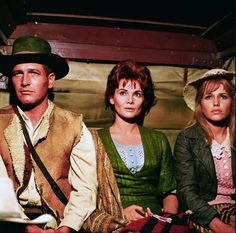 "Paul Newman, Diane Cilento and Margaret Blye in ""Hombre"" (Martin Ritt, 1967)"