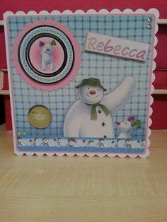 Snowman & snowdog card