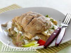 Dorozsmai ponty recept Turkey, Dishes, Chicken, Food, Desk, Desktop, Turkey Country, Tablewares, Essen