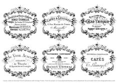 Shabby French Typography Labels   Project - Gorgeous! - The Graphics Fairy