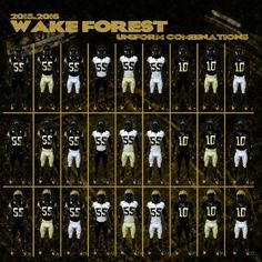 Wake Forest Demon Deacons unveil new football uniforms (Chatham Journal)