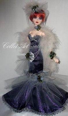 "https://flic.kr/p/qyu9Tx | Tonner Wilde Imagination 18.5"" Evangeline Ghastly Parnilla OOAK Fashion ""New Year Celebration - Gothic Style"" Collet-Art"