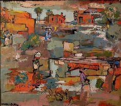 Walter Battiss, Figures in a Village