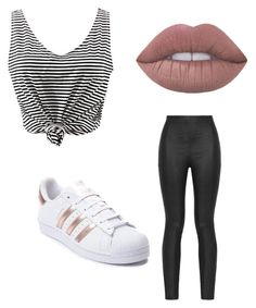 """Vazzah"" by lilarana on Polyvore featuring Armani Jeans, WithChic and adidas"
