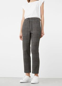 Check suit trousers - Pants for Women | MANGO USA