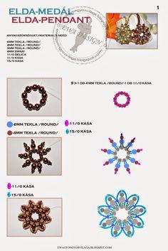 Elda medál - Ewa tutorial in http://ekszerkeszitesiutmutatok.blogspot.fi/2012/02/elda-medal-ewa.html
