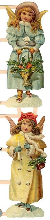 Vintage Christmas Angel Scraps