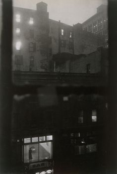 John Cohen, Tenth Street at Night, 1960.