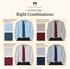 Knowing how to match shirt with tie is a style and elegance question:  it's necessary pay appropriate attention to patterns and colors.