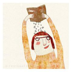 giclee print  read me   Illustration  drawing  by RedCheeksFactory, €30.00