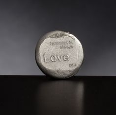 I promise to always love you. Hand cast Pewter Love Token £8,50
