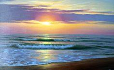 How to paint landscapes kevin oleary 62 trendy Ideas Ocean Scenes, Beach Scenes, Ocean Art, Ocean Waves, Pictures To Paint, Beach Pictures, Landscape Art, Landscape Paintings, Wave Illustration