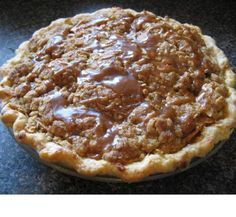 Crunchy Caramel Apple Pie ~ Oh my is this good!!  The only thing I would do differently is pre-bake the pie crust for about 5 min. before filling and baking as directed. This is definitely a WOW!