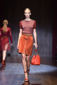 Gucci Brings Us That '70s Fashion Show: If the Gucci runway last season was all about the mod '60s, it makes sense that the fashion house has progressed to the swinging '70s for Spring 2015.