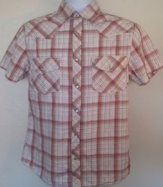 Mossimo Small button front pearl snap S short sleeve great condition some fading #Mossimo #ButtonFront