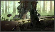 """Backgrounds that I worked on for tonight's episode on Gravity Falls 'Roadside Attraction'. This was the first episode that I helped out for Gravity Falls! I was super honored to be part..."