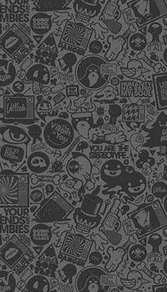 Graffiti Wallpaper Iphone, Wallpaper Wa, Crazy Wallpaper, Black Phone Wallpaper, Wallpaper Keren, Wallpaper Space, Graphic Wallpaper, Emoji Wallpaper, Galaxy Wallpaper