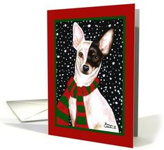 Christmas - Chihuahua Snow Scarf | Dogs | Greeting Card Universe by AmbersonArt