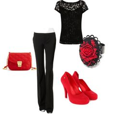 """""""Black and Red"""" by terah-jack on Polyvore"""
