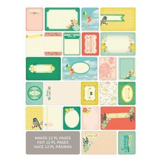 Project Life Themed Cards 60 Pack - Spring   Hobbycraft #projectlife #scrapbooking #makingmemories #hobbycraft #papercraft