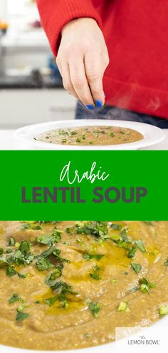 Arabic Lentil Soup is made with hearty vegetables and brown lentils simmered with warm spices like cinnamon and cumin then blended until smooth. Gluten Free Recipes For Lunch, Lunch Recipes, Easy Dinner Recipes, Dinner Ideas, Slow Cooker Chicken Curry, Slow Cooker Soup, Chicken And Cabbage, Chicken Soup, Lentil Recipes