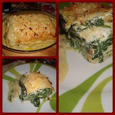 Lasagne con spinaci e tofu con crosta di mandorle