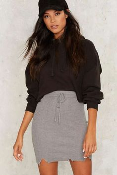 Keep a Cool Shred Ribbed Skirt